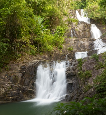 Lampi water fall in Thailand Stock Photo - 11252744