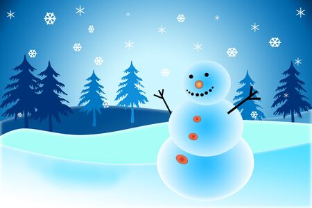 snowman on christmas day Stock Photo