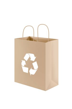 brown paper bag: Brown paper bag for recycling