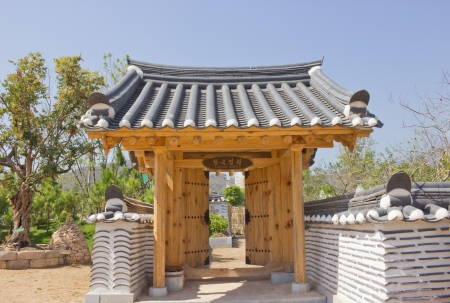 Korean style gate house photo