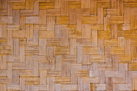 Bamboo weave pattern photo