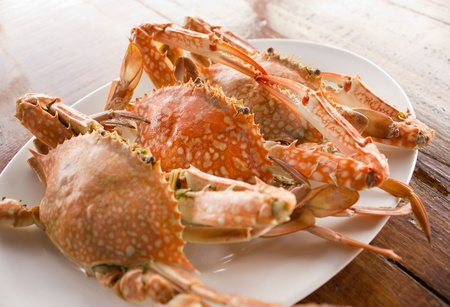 Steamed crabs Stock Photo - 13179213