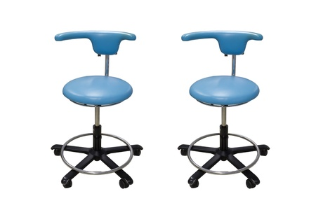 Dental stools for dentist isolated on white background photo