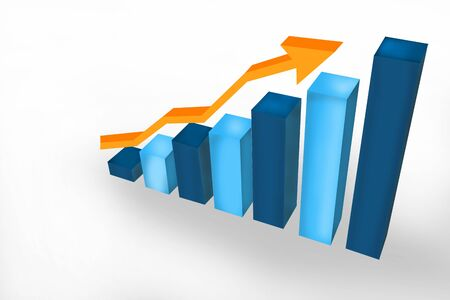 Business growth bar graph photo
