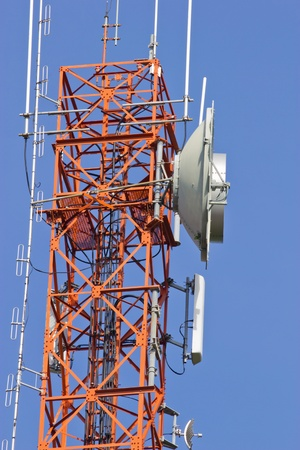 Communication tower on blue sky Stock Photo - 13711318
