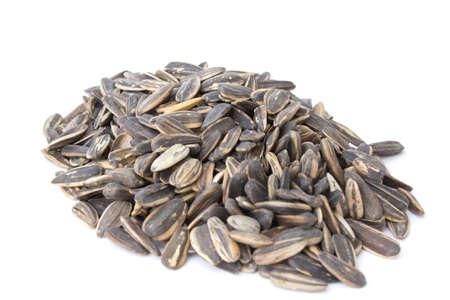 Sunflower seeds isolated on white background photo