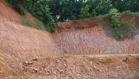 The excavated soil to fill the streets photo