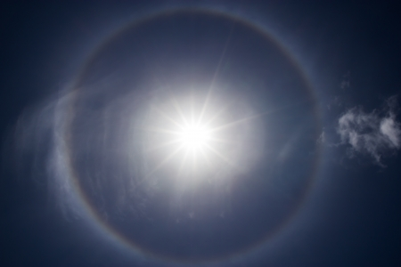 Corona, ring around the sun photo