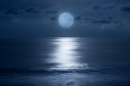 Sea under the moonlight