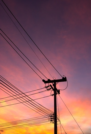 Electricity post photo