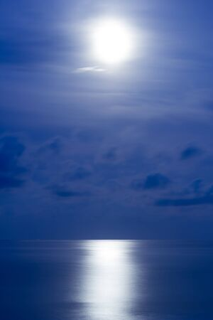 Sea under the moonlight photo