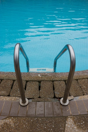 Swimming pool with stair photo