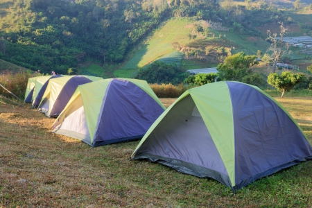 Camping Tents Stock Photo