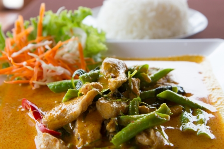 Pork curry, delicious and famous Thailand food photo