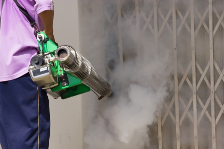 Fumigate mosquito-killing to prevent disease Standard-Bild