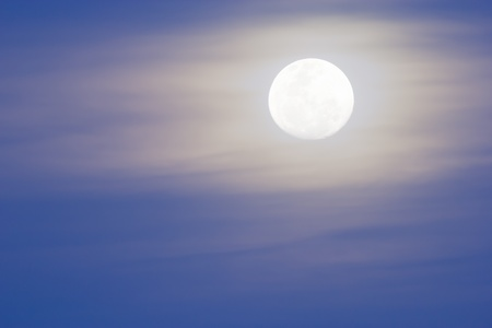 Large moon rise in the evening photo