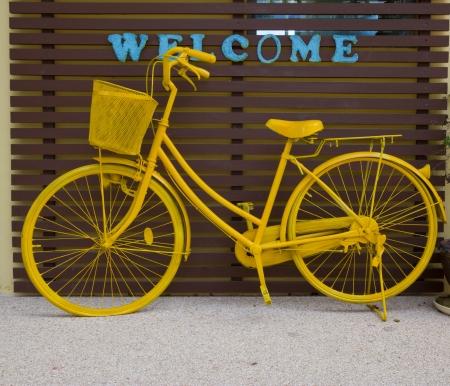 Yellow bicycle photo