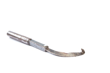 tapper: Rubber tapping knife isolated on white background