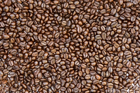Texture of coffee beans photo