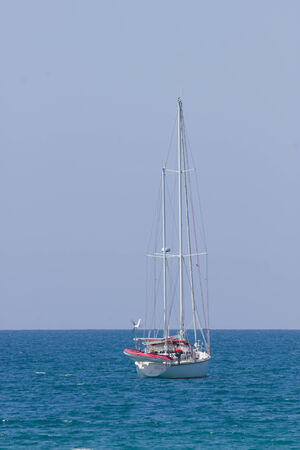 Yacht in the sea photo