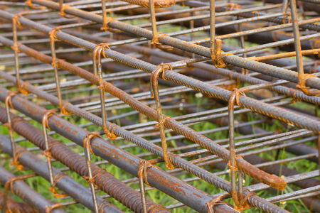 Rusted steel fittings construction elements photo