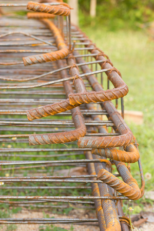 Rusted steel fittings construction elements