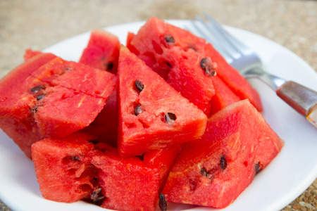 sliced watermelon: Watermelons slices