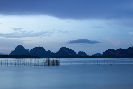 rearing of fish: Fish cages in Thailand