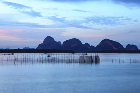 fish rearing: Fish cages in Thailand