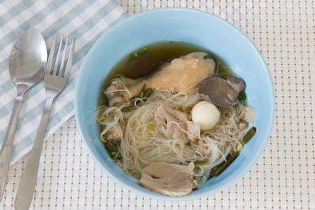 cha: Chicken noodle Stock Photo