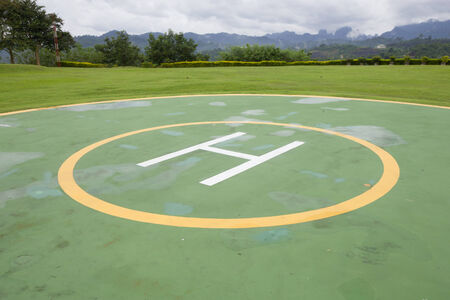 heliport: Heliport for helicopter Stock Photo