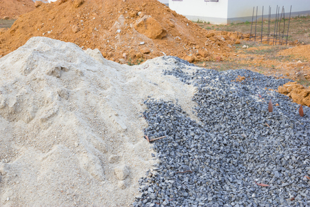 mounds: Stone, sand and mounds for construction