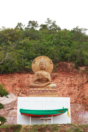tree position: Buddha statues on the mountain Stock Photo