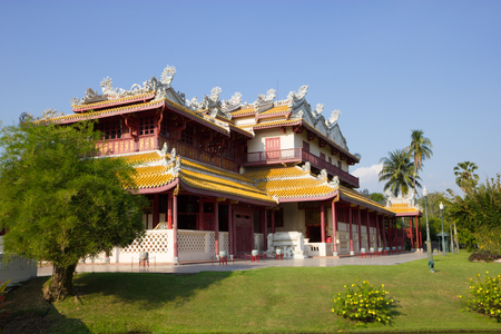 grand pa: Thailand architecture mixed Chinese at Bang Pa-In palace in Ayutthaya,Thailand