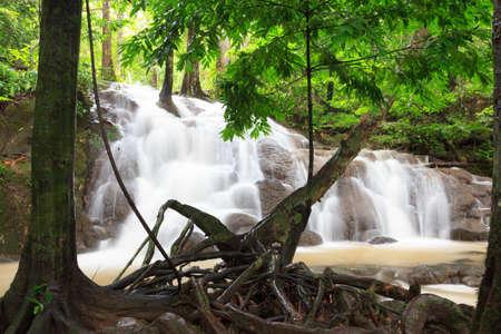 phangnga: Waterfall on rainy day, phangnga,Thailand