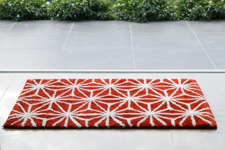 Red doormat