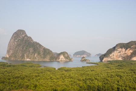 Viewpoint at sametnangshe in Phang Nga, Thailand Stock Photo