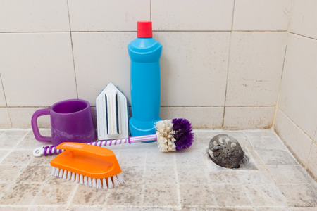 scrubbing up: Cleaning the bathroom
