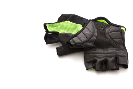 mountain bicycling: Cycling gloves isolated on white background