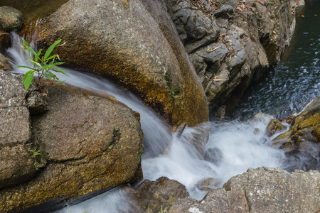 Small waterfalls in tropical forest