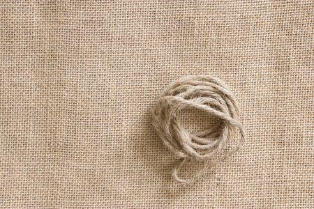 sackcloth: Hemp rope on sackcloth
