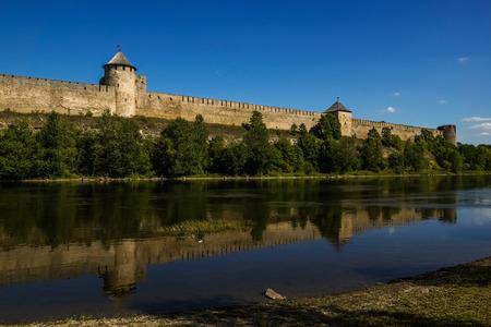 Ivangorod fortress on the Narva river, Russia