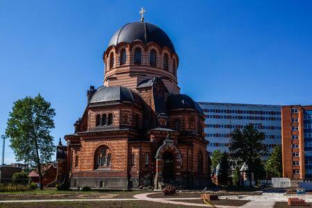Lords Resurrection Cathedral in Narva, Estonia Stock Photo