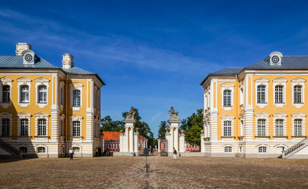 rundale: Baroque palace in Rundale, Latvia