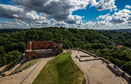 Gediminas Hill in Vilnius, Lithuania Stock Photo