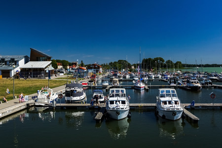Marina in Gizycko, Masuria, Poland