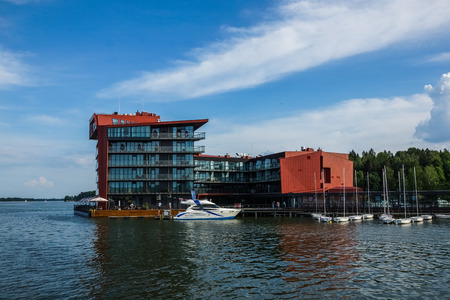 Mikolajki, Poland - 29 May 2016 - Hotel in Mikolajki city