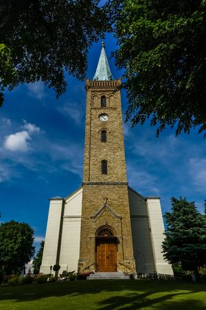 Church in Mikolajki city, Masuria, Poland