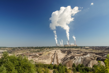 Brown Coal Mine and Power Station in Belchatow, Poland Reklamní fotografie