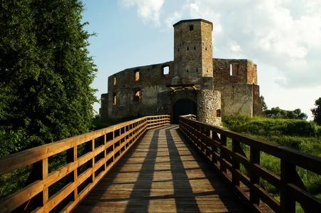 Castle ruins in Siewierz, Silesia, Poland